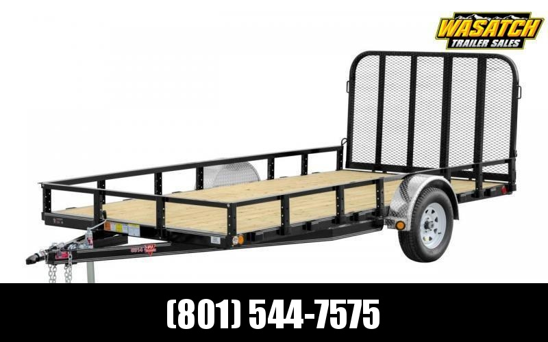 2020 PJ Trailers 83x14 Single Axle Channel (U8) Utility Trailer with Sideramps and Spare Tire with Mount and LED Lights