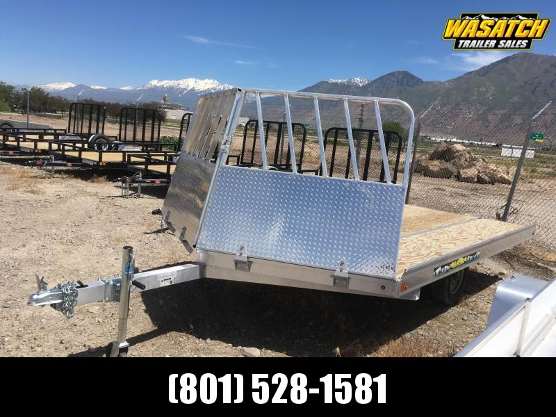 Aluma 8612D Snowmobile Trailer w/ Rock Shield