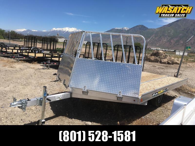 Aluma 8612D Snowmobile Trailer w/ Rock Shield