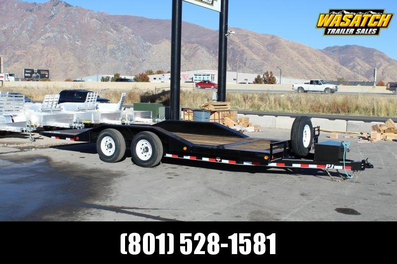"PJ Trailers 8.5x20 6"" Channel Super-Wide Tilt (TS) Equipment Trailer"