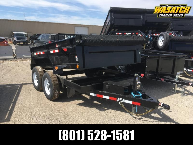 "PJ Trailers 6x10 Tandem Axle (D3) Dump 18"" High Sides"