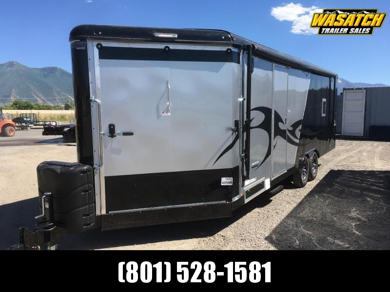 2019 Silver & Black Mirage Trailers 8.5x28 Xtreme Sport Snowmobile Trailer
