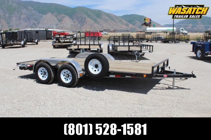 PJ Trailers 7x16 Channel Carhauler (C4) Car / Racing Trailer