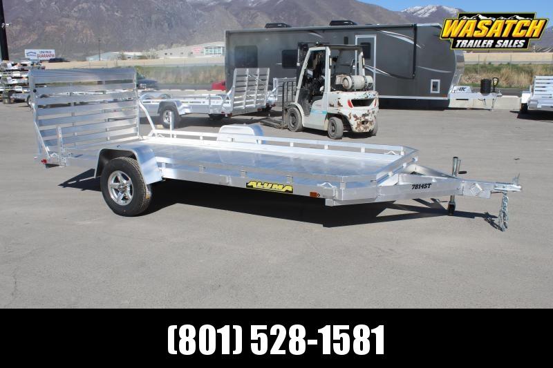 "Aluma 78""14' Aluminum Utility Trailer w/ Electric Brakes"