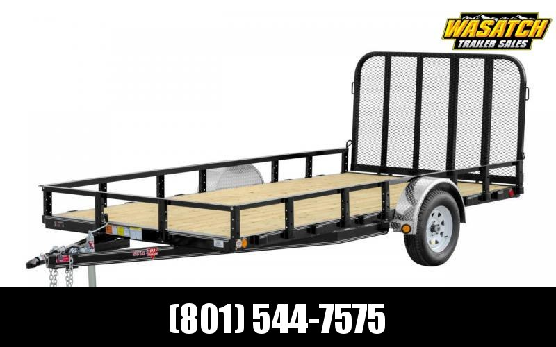 2019 PJ Trailers 83x12 Single Axle Channel (U8) Utility Trailer with Fold Gate and Spare Tire with Mount