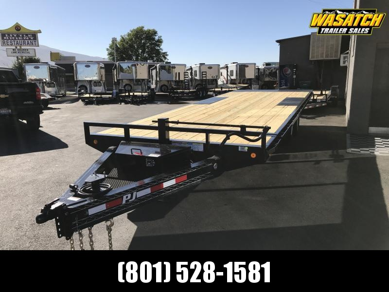 PJ Trailers 8x24 Deckover Tilt (T8) Equipment Trailer