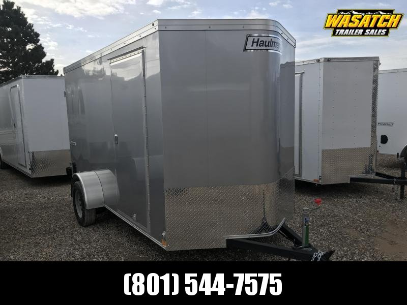 Haulmark Silver 6x10 Transport w Barn Doors Enclosed Cargo Trailer
