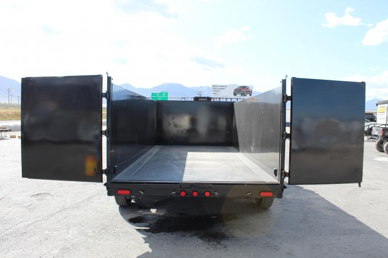 PJ Trailers 7x16 Low-Pro High Side (DM) Dump Trailer w/ 4' High Sides