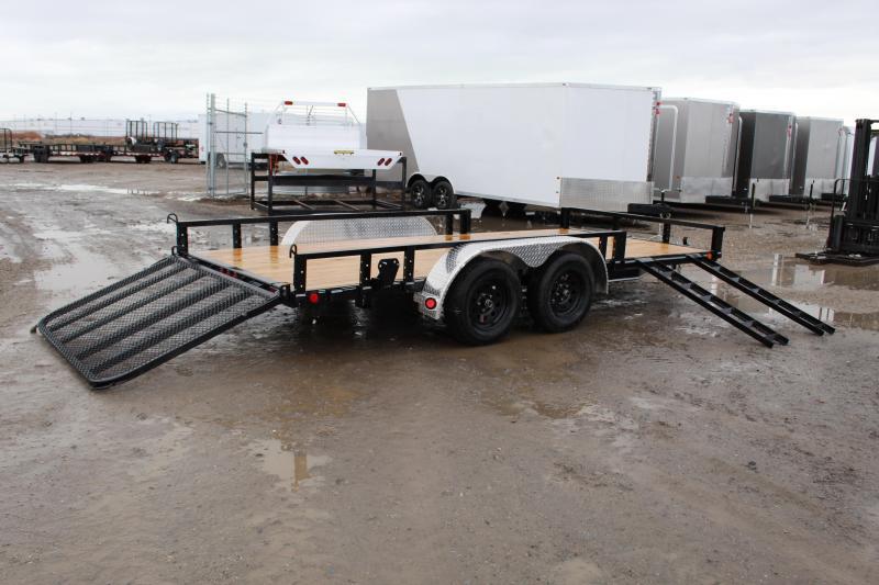 PJ Trailers 7x16 Tandem Axle Channel (UL) Utility Trailer