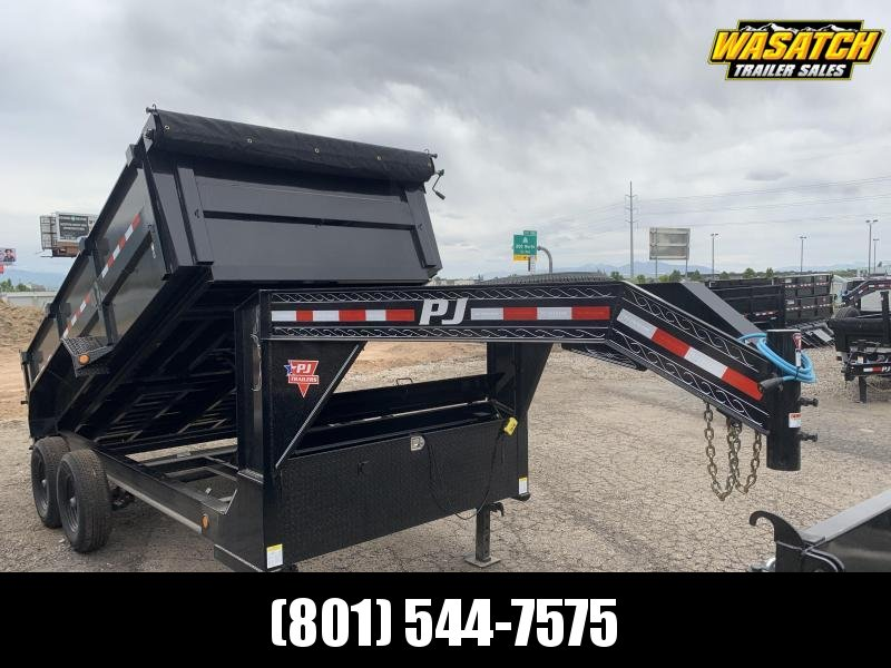 PJ 7x14 Gooseneck Low Pro High Side Dump (DM)