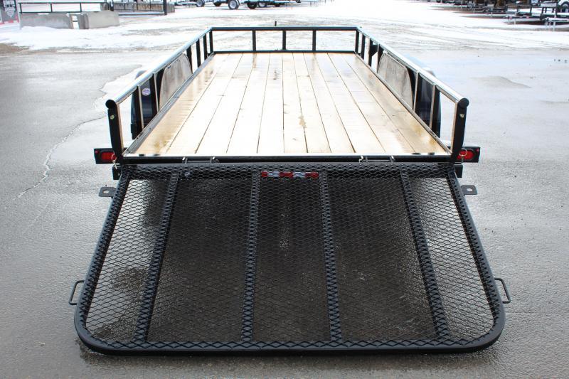 PJ 6.5x16 Angle Tandem Axle Utility Trailer (EK)