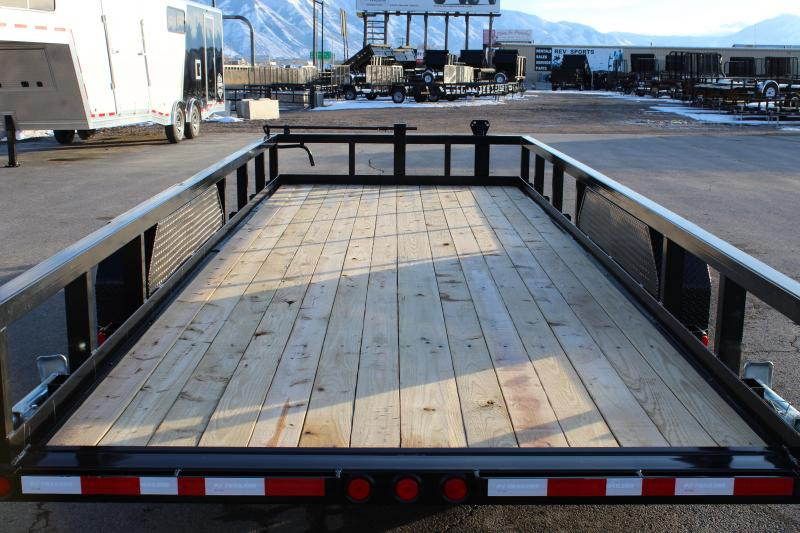 PJ Trailers 7x20 Angle Pipetop Trailer (P8) Equipment Trailer