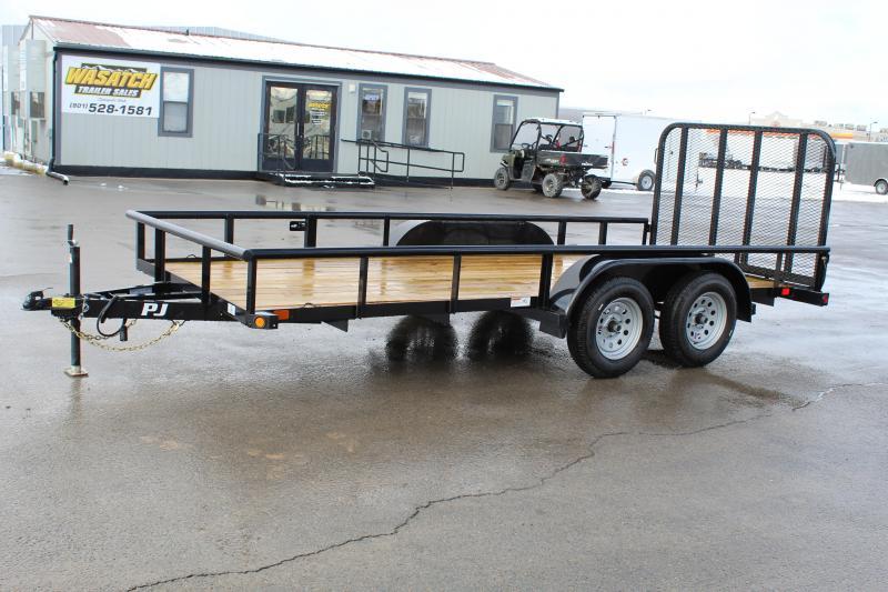 PJ Trailers 6.5x16 Angle Tandem Axle (EK) Utility Trailer
