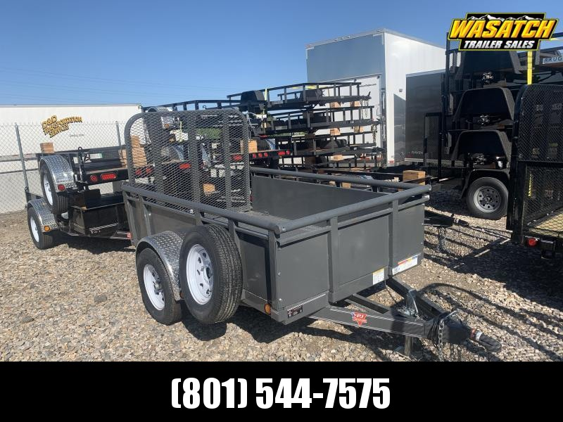 2020 PJ Trailers 5x8 Gray Single Axle Channel Utility (U6) Utility Trailer