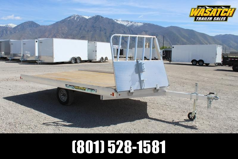 Aluma 8.5x12 Snowmobile Trailer w/ Rock Shield