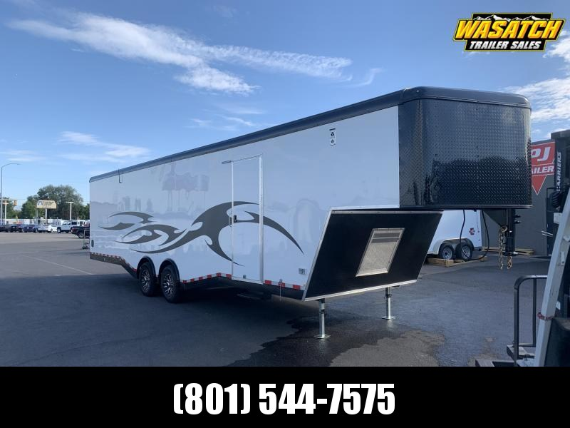 2020 Mirage Trailers White & Black 8.5x38 Xtreme Sport Snowmobile Trailer