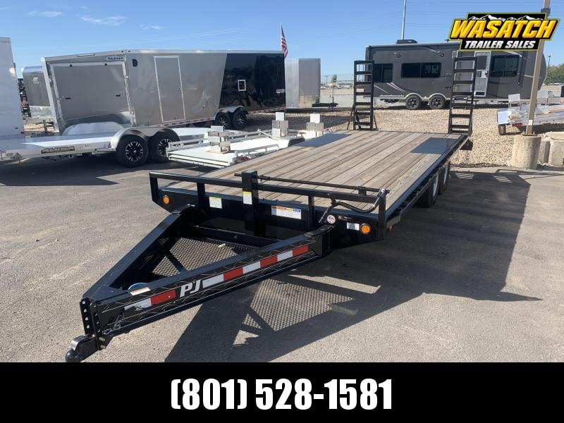 "PJ Trailers 8x20 8"" I-Beam Deckover (F8) Equipment Trailer"