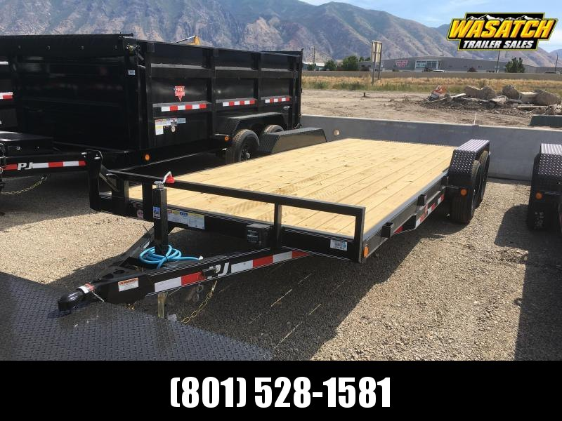 "PJ Trailers 7x20 5"" Channel Equipment (CE) Equipment Trailer"