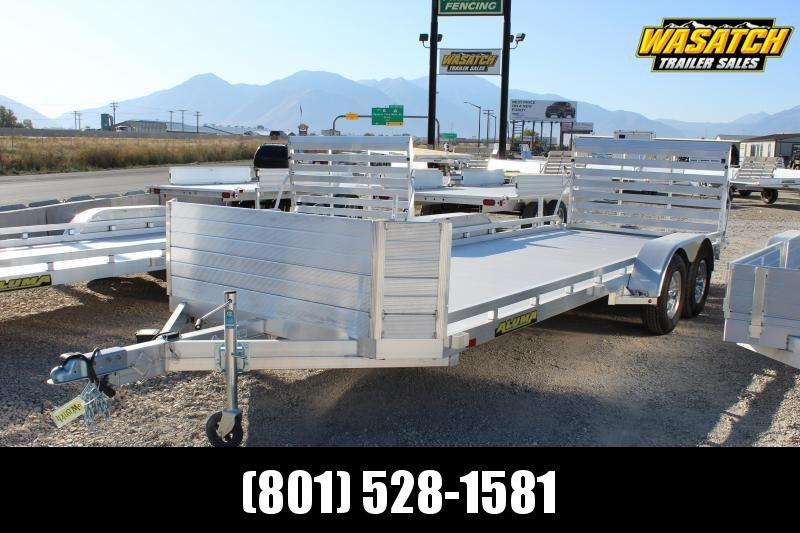 Aluma 7820R Utility Trailer w/ Rear Slide Out Ramps