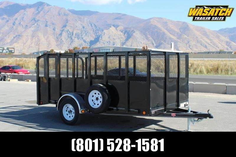 """PJ Trailers 6x12 Single Axle Channel (U7) Utility w/ 48"""" Solid/Expanded Sides"""