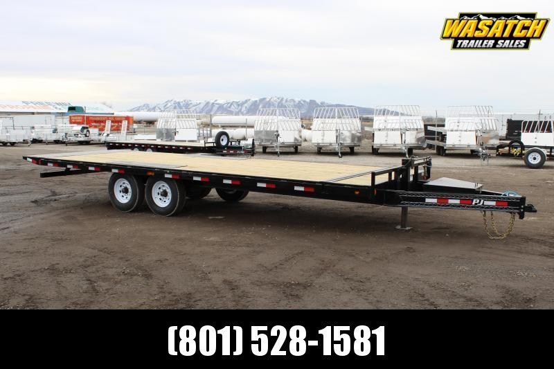 PJ Trailers 8.5x24 Deckover Tilt (T8) Equipment Trailer