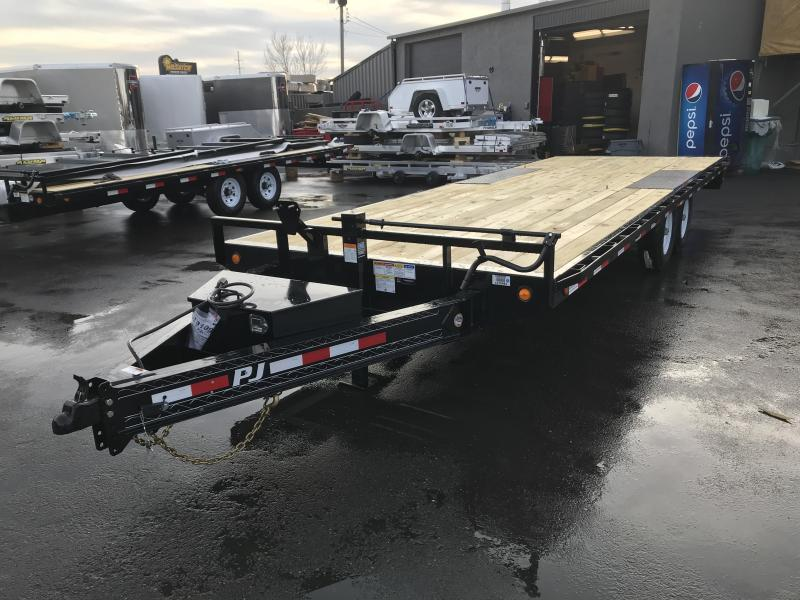 PJ 22ft - 8 in. I-Beam Deckover (F8) Flatbed Trailer