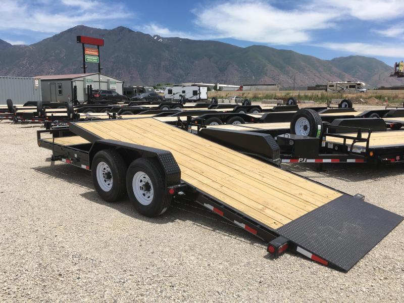 2020 PJ Trailers 20ft - 6 in. Channel Equipment Tilt (T6) Equipment Trailer