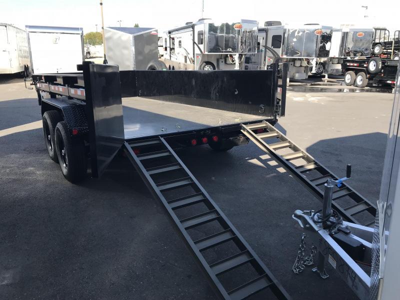 PJ Trailers 7x14 Low-Pro (DL) Dump Trailer w/ 2' High Sides
