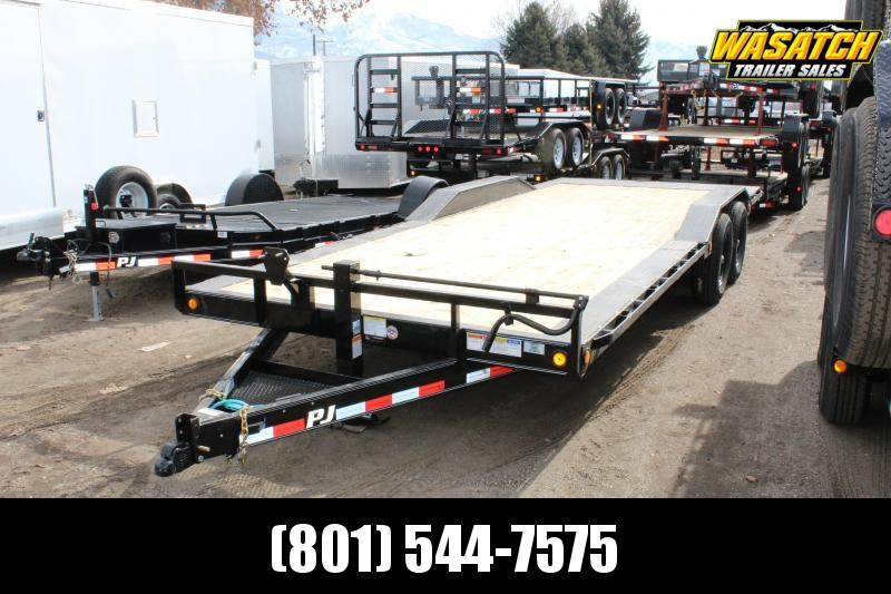 PJ 22 ft - 6 in. Channel Super-Wide (B6) Car / Racing Trailer