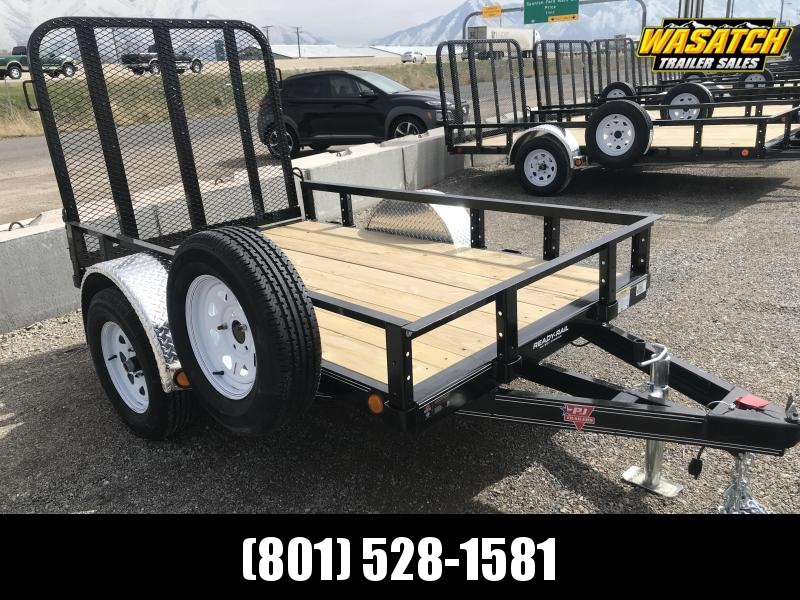 PJ Trailers 60'' Single Axle Channel (U6) Utility Trailer