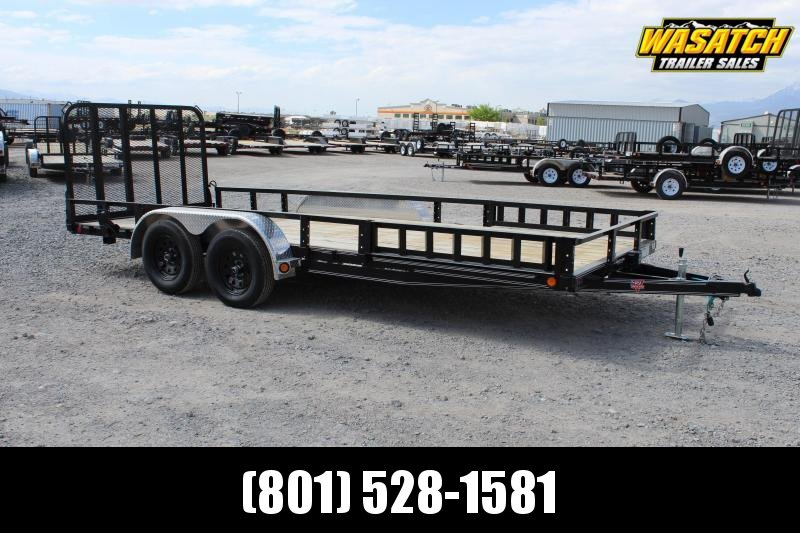 ***PJ Trailers 7x18 Tandem Axle Channel (UL) Utility Trailer***