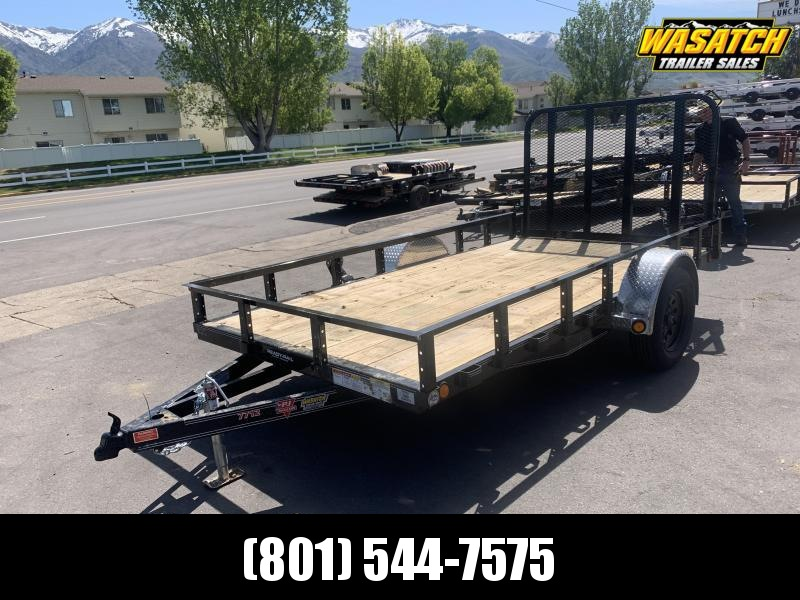 2020 PJ Trailers 6.5x12 Single Axle Channel Utility (U7) Utility Trailer