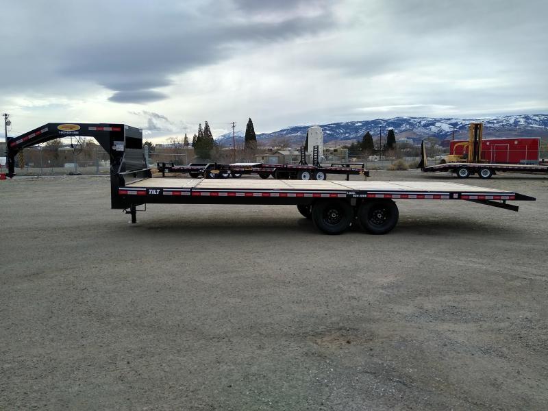 2020 Econoline 7-Ton Gooseneck Deckover Partial Tilt BG0725TE Equipment Trailer