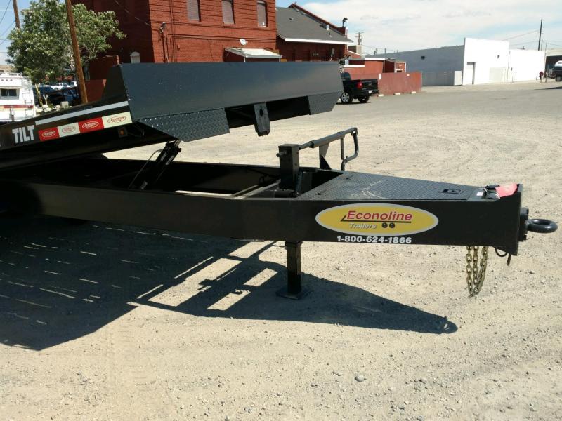 2020 Econoline 10-Ton Heavy Duty Dual-Tandem Tilt DP1025TE Equipment Trailer