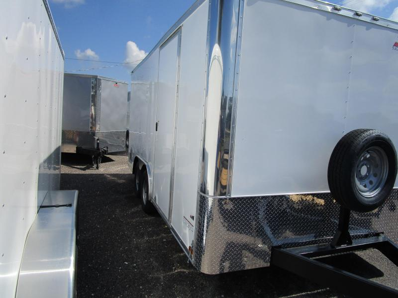 NEW 8.5 X 16 TA Enclosed Trailer w/Ramp Radial Tires Roof vent and sidewall vents Spare Tire Mount and Spare included!!