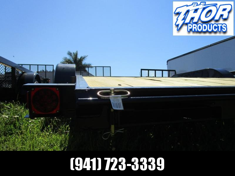 NEW 7X18 7K Car Hauling Trailer * Ramps * LED lights * Spare Mount RADIAL TIRES