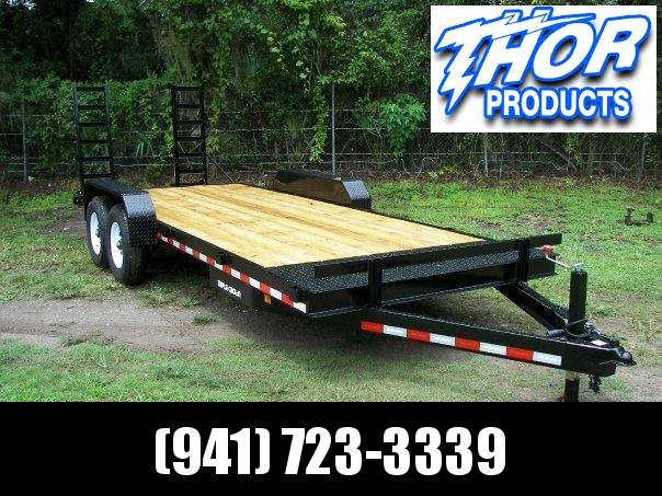 NEW 7x18 Equipment Trailer 10K w/ramps