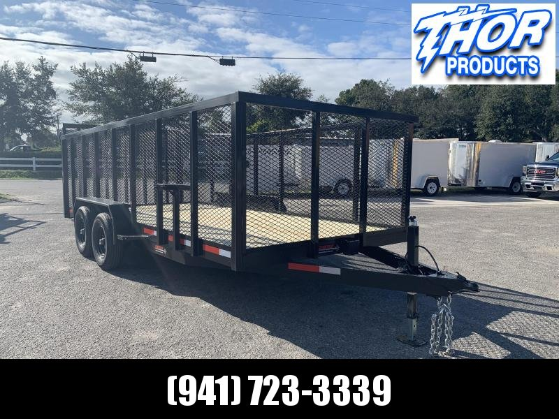 NEW 7X20 10K MAGNUM II Utility Trailer w/4' Mesh sides and Ramp !! HEAVY DUTY!!