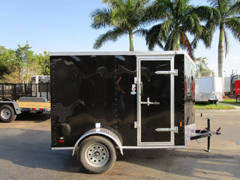 5X8 Slant V-nose w/ Side Door Ramp door .030 BLACK