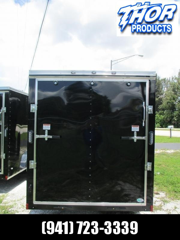 NEW 6X10 .030 BLACK Cargo Trailer w/side door and rear RAMP door