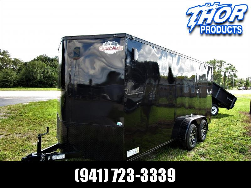 NEW 7X16 TA Trailer V-nose Ramp BLACK with Black out package and aluminum rims!!