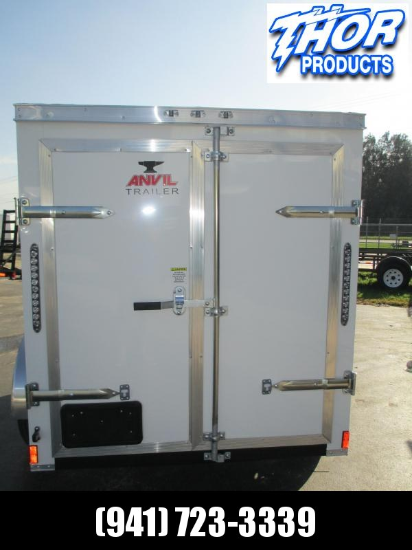 5x8 V-nose Trailer Double Rear Doors Therma Cool Ceiling WHITE