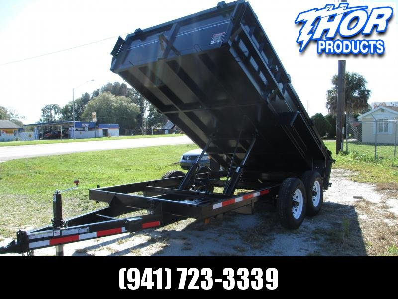 NEW 7x14 14k HD Dump Trailer W/Tarp & Ramps