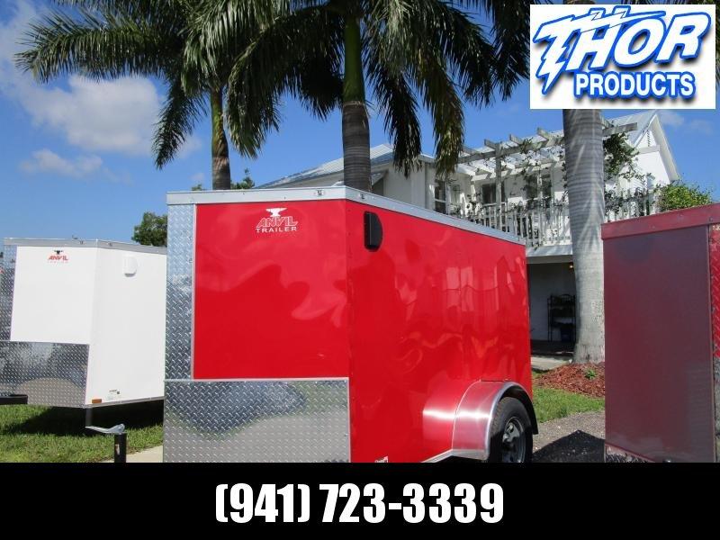 5x8 V-nose Trailer Ramp door and Side Door RED