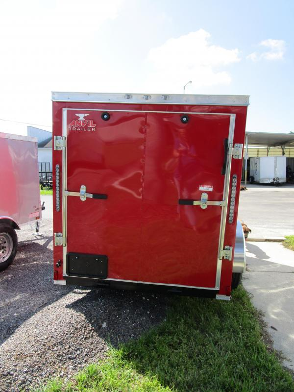 5x8 V-nose Trailer Ramp door and Side Door RED