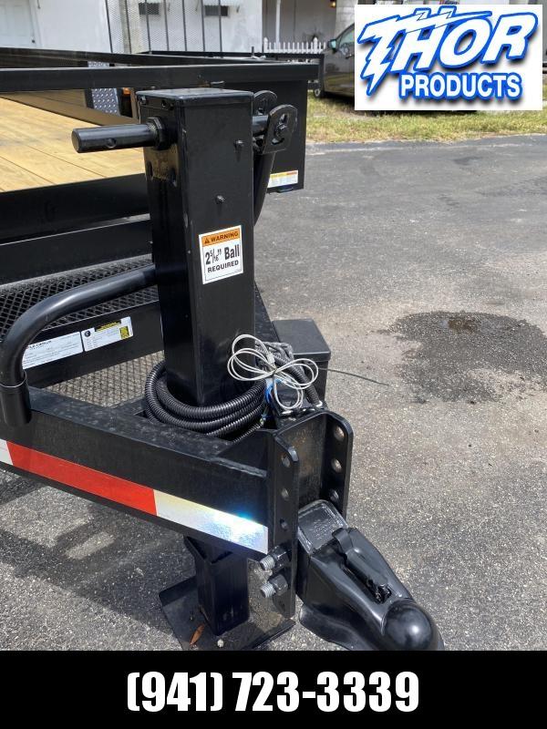 7x16 14K Skid Steer Equipment Trailer w/RAMPS & sides