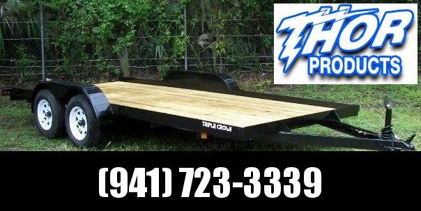 NEW 7X18 7K Race Car Hauler Drag UTV Side ATV Open Utility Cargo Trailer w/Ramps & Removable Fender