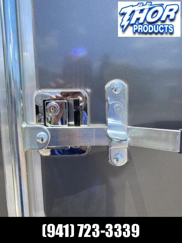 """7X14 TA Trailer V-nose Ramp CHARCOAL GRAY w/7'3"""" Interior Height!  UTV HAULER"""