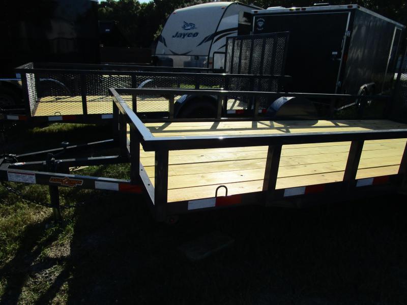 """6'4"""" x 14 SA Utility Trailer Tube Top Ramp LED Lights GRAY"""