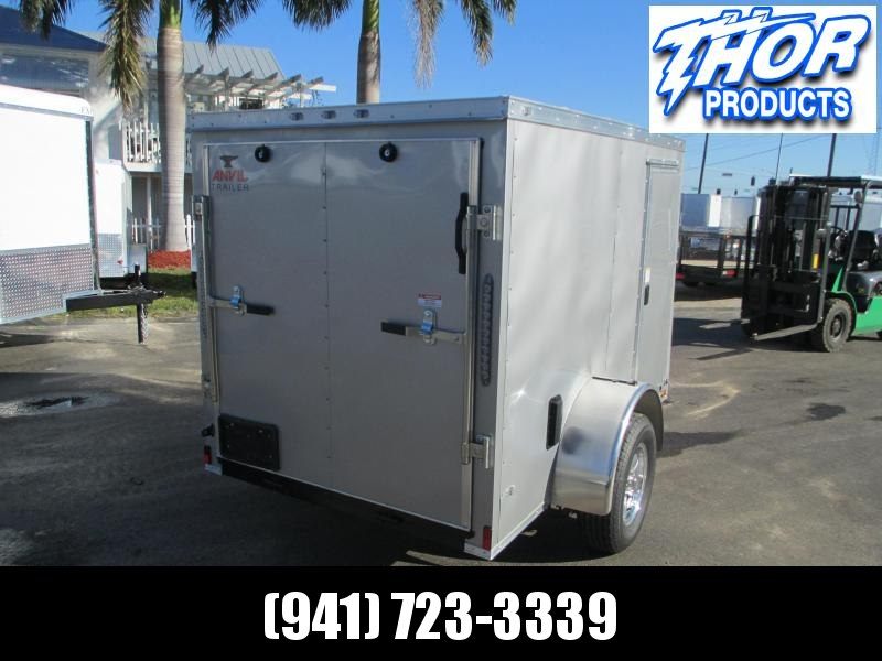 NEW 5 x 10 SA Enclosed Trailer w/side and Ramp Door SILVER
